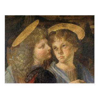 Baptism of Christ Angels by Leonardo da Vinci Postcard