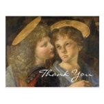 Baptism of Christ (angels) by Leonardo da Vinci Post Card