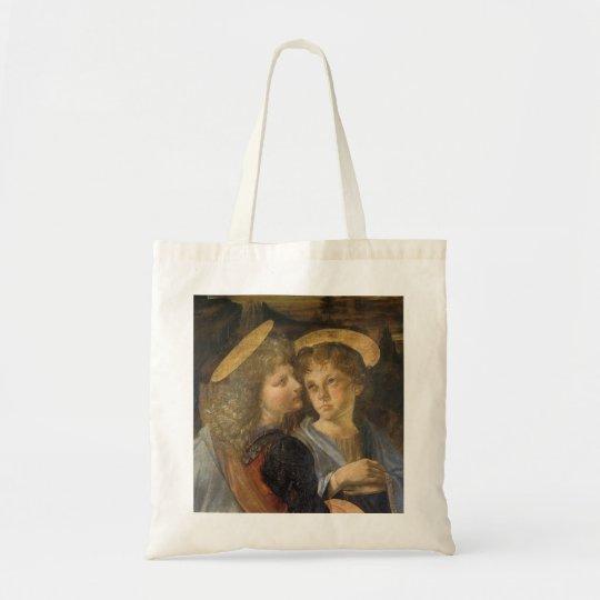 Baptism of Christ Angels by Leonardo da Vinci Tote Bag