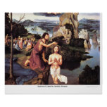 Baptism of Christ by JoachimPatinier Posters