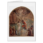 Baptism Of Christ By John By Fra Angelico Card