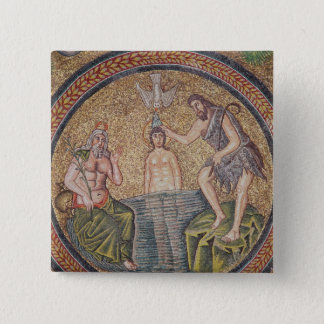 Baptism of Christ by John the Baptist Button