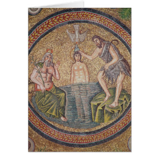 Baptism of Christ by John the Baptist Card