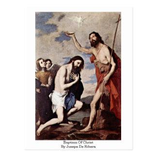 Baptism Of Christ By Jusepe De Ribera Postcard