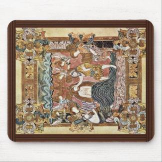 Baptism Of Christ By Meister Des Benedictionale De Mouse Pad
