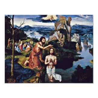 Baptism Of Christ By Patinir Joachim (Best Quality 4.25x5.5 Paper Invitation Card