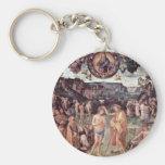Baptism Of Christ By Perugino Pietro Basic Round Button Keychain