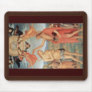 Baptism Of Christ By Perugino Pietro (Best Quality Mouse Pad