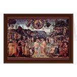 Baptism Of Christ By Perugino Pietro Greeting Cards