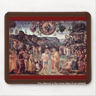 Baptism Of Christ By Perugino Pietro Mouse Pad