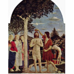 "Baptism Of Christ By Piero Della Francesca Statuette<br><div class=""desc"">Baptism Of Christ By Piero Della Francesca