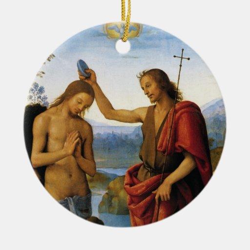 Baptism of Christ by Pietro Perugino Ornament