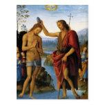 Baptism of Christ by Pietro Perugino Postcards