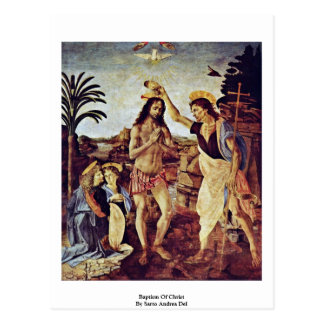 Baptism Of Christ By Sarto Andrea Del Postcards