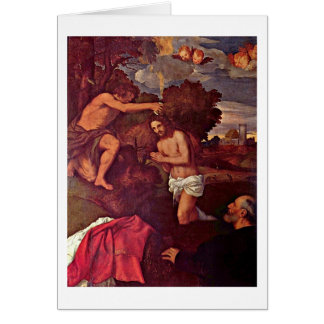 Baptism Of Christ Giovanni Ram By Titian Cards