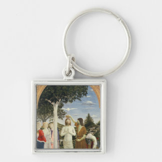 Baptism of Christ Silver-Colored Square Keychain