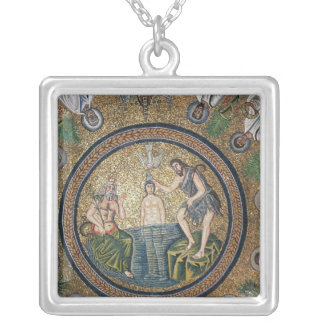 Baptism of Christ Silver Plated Necklace
