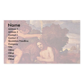 Baptism Of Christ With The Client Giovanni Ram Business Card