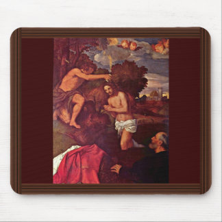 Baptism Of Christ With The Client Giovanni Ram Mouse Pad