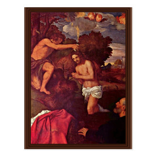 Baptism Of Christ With The Client Giovanni Ram Postcards