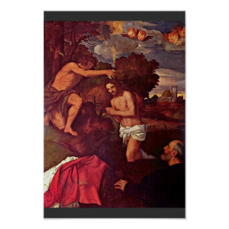 Baptism Of Christ With The Client Giovanni Ram Print
