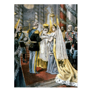 Baptism of Grand Duchess Tatiana, daughter of Postcard