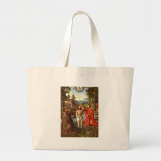Baptism of Jesus painted by Masters Jumbo Tote Bag