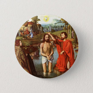 Baptism of Jesus painted by Masters Button