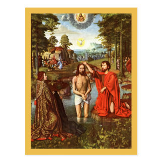 Baptism of Jesus painted by Masters Postcard