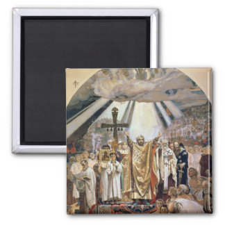 Baptism of Rus, 1885-96 2 Inch Square Magnet
