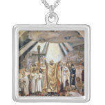 Baptism of Rus, 1885-96 Square Pendant Necklace
