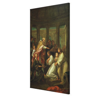 Baptism of St. Augustine Canvas Print