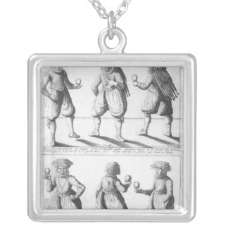 Baptism of the Tupinambras Tribe Silver Plated Necklace