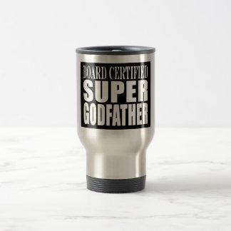 Baptism Parties : Board Certified Super Godfather 15 Oz Stainless Steel Travel Mug