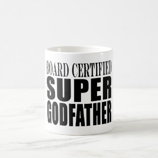 Baptism Parties : Board Certified Super Godfather Classic White Coffee Mug