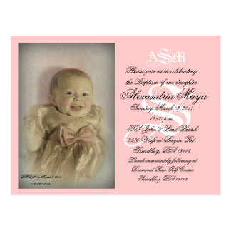 Baptism Postcard - Custo... - Customized