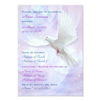 Baptism religious communion confirmation dove personalized announcements