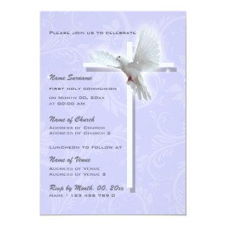 Baptism religious communion confirmation dove custom invitations