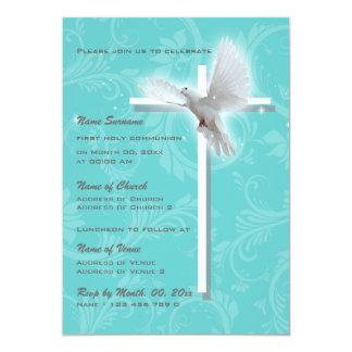 Baptism religious communion confirmation dove personalized invitations