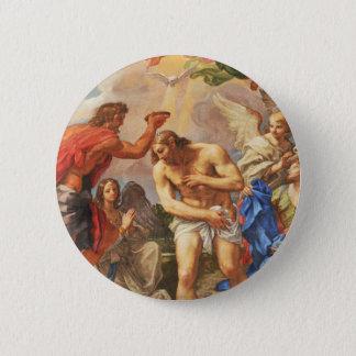 Baptism scene in San Pietro basilica, Vatican Pinback Button