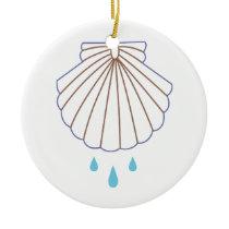 Baptism Shell Applique Ceramic Ornament