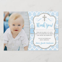 Baptism Thank You Card with Photo | Boy Baptism