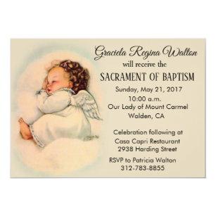 Baptismal Baby Girl Angel Invitation Taraedy Review