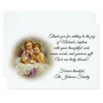 Baptismal Baby Guardian Angels  Thank You Card