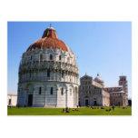 Baptisterio y torre de Pisa Postal