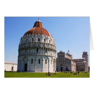 Baptistery and Pisa Tower Card