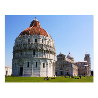 Baptistery and Pisa Tower Postcard