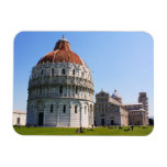 Baptistery and Pisa Tower Vinyl Magnet