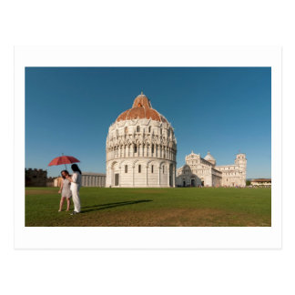 Baptistry and Duomo (Cathedral), Pisa, Italy Postcard