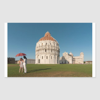 Baptistry and Duomo (Cathedral), Pisa, Italy Rectangular Sticker